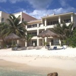 View from the Water. Casa Caribbean is the top right condo with covered terrace
