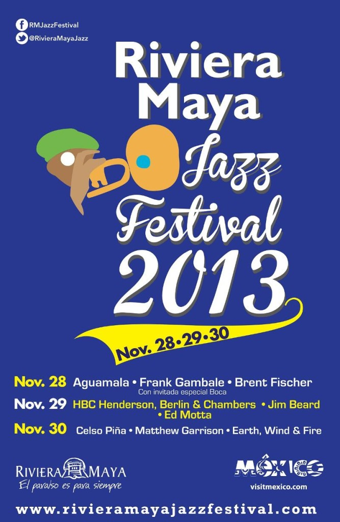 Line Up Announced for the 11th Annual Riviera Maya Jazz Festival