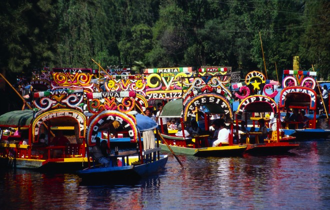 World famous Xochimilco Canals can now be seen in Xochimilco Cancun Park