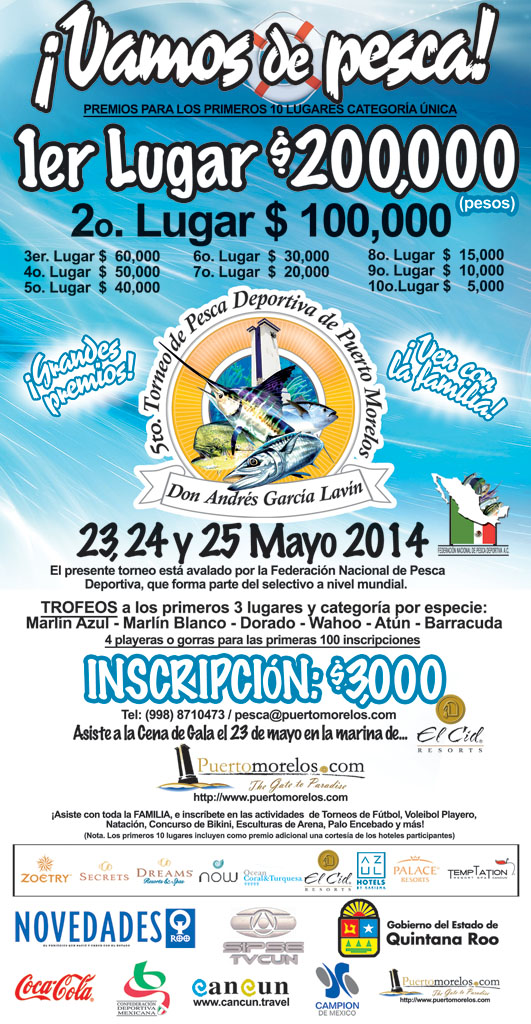 Puerto Morelos Fishing Tournament 2014